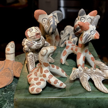 Very Cool Seussian Menagerie from ?  Mexico? - Pottery