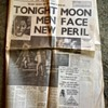 Moon landing newspapers Monday July 21st 1969.