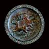 Cast iron horses plate, Japan