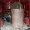 old lamp oil drum