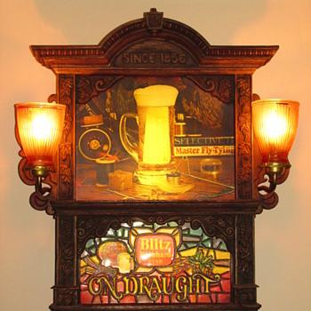 retro Blitz Beer sign