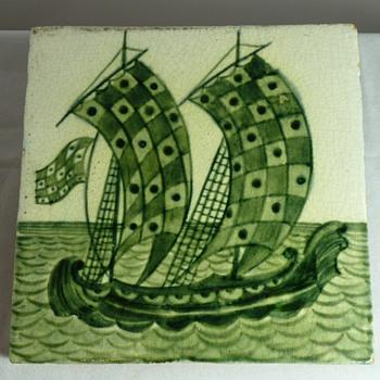 Arts & Crafts ceramics of galleons by de Morgan, Foley and Pilkington - Arts and Crafts