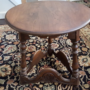 Leavens Lamp Table Victorian Made in Boston