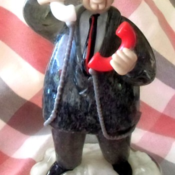Sunday Fun - My New Czech Glass Business Man Glass Figurine - Art Glass