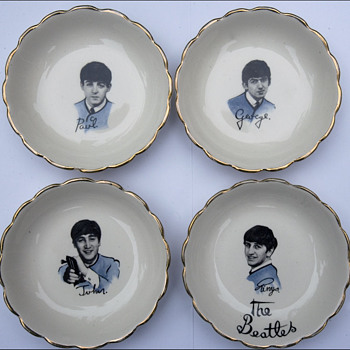 Beatles Candy  Dishes - Music Memorabilia
