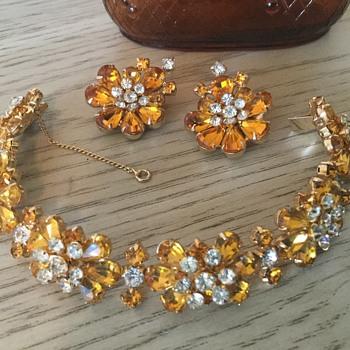 KRAMER SET...orange & ice! - Costume Jewelry