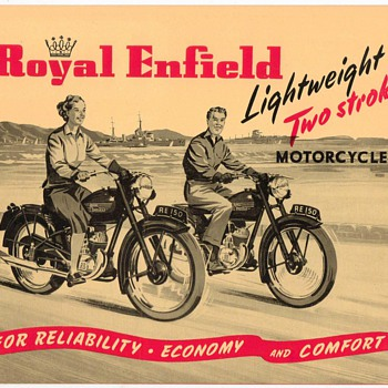 "1953 - ""Royal Enfield"" Motorcycles Brochure - Paper"