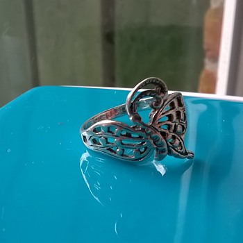Butterfly (Dragonfly?) Sterling Ring