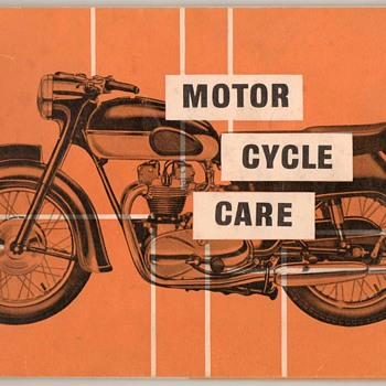 1960 - Motor Cycle Care (Lubrication Guide) - Paper