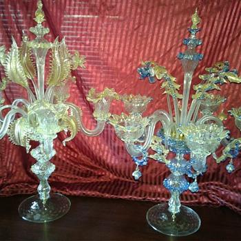 Vintage Murano Candelabra - Art Glass