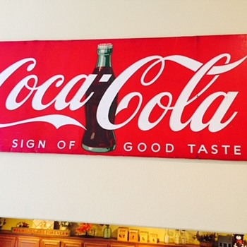 1948 Bulletin Board Sign- dated and tells size and where it was sent: Boulevard Cafe, Highway 66, Puente, CA - Coca-Cola