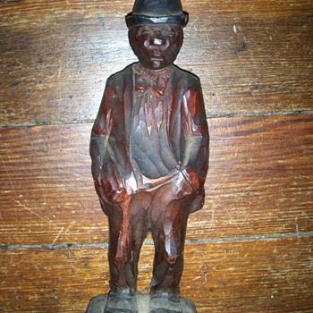 carved black man? - Folk Art