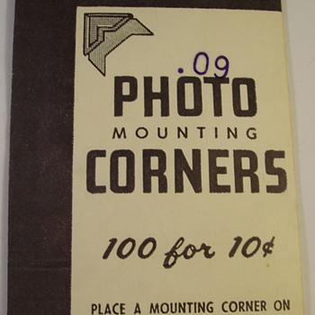 1930's Gummed Photo Corners for Pictures - Photographs