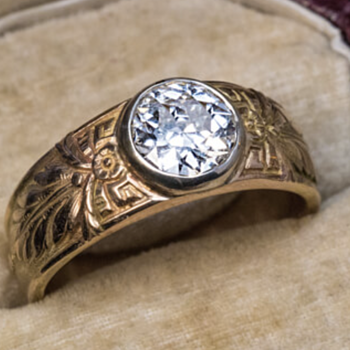 Antique Russian Ring: Makers Mark Unknown - Fine Jewelry