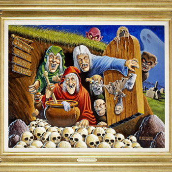 Al Feldstein Tales of Terror Annual #2 (Revisited) Painting Original Art