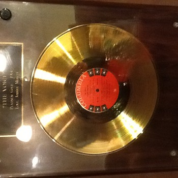 "Frank Sinatra platinum gold award 1961 ""THE VOICE "" - Music Memorabilia"