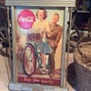 """Coca-Cola cardboard """"For the Party"""" sign circa 1943 with Kay Advertising frame"""