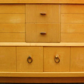Need information about gorgeous mid century chest and dresser pair, Please help!