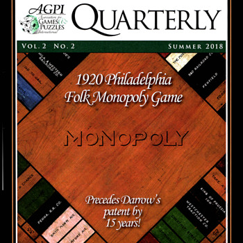 AGPI Article SUMMER 2018 - The 1920 Philadelphia Folk MONOPOLY Game - Games