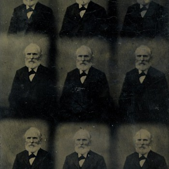 Rare Uncut Tintypes of Husband & Wife - Photographs