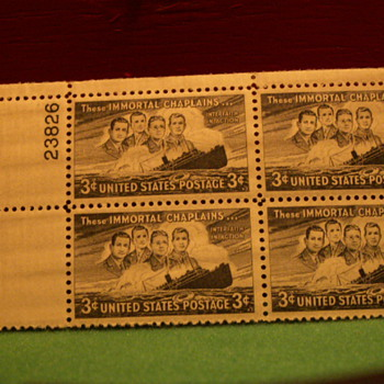 1948 These Immortal Chaplains 3¢ Stamps