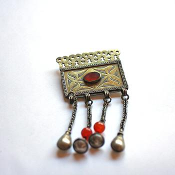 Afghani ethnic brooch - Fine Jewelry