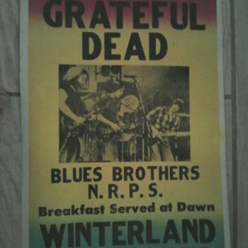 Grateful Dead 1978 Winterland concert poster. - Posters and Prints