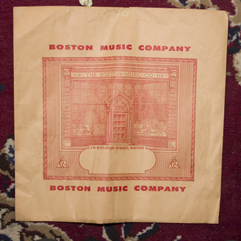 Boston Music Company posssibly Record holder package - Music Memorabilia