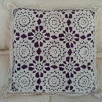 Decorative Crocheted Throw Pillow