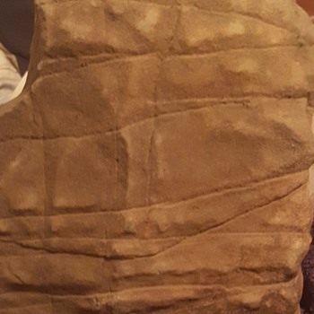 Native American abrading stone art work  - Native American