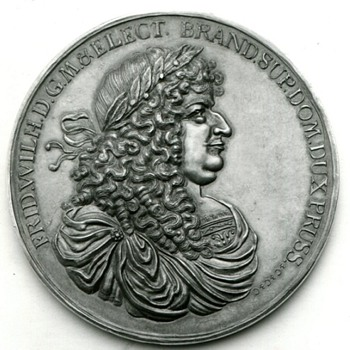 The Great Elector of Brandenburg's 2nd Marriage Medal - Medals Pins and Badges
