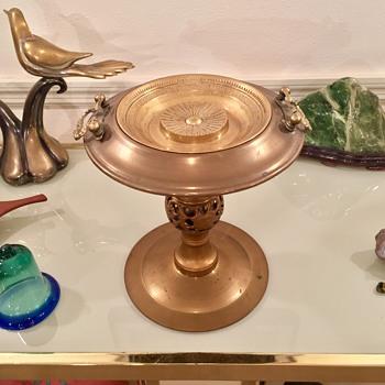 Ingenious Mid Century Modern Brass & Copper Ashtray / Incense Burner  - Mid-Century Modern