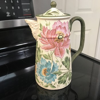 Vintage Hand Painted Teapot Signed Patent mystery maker  - China and Dinnerware