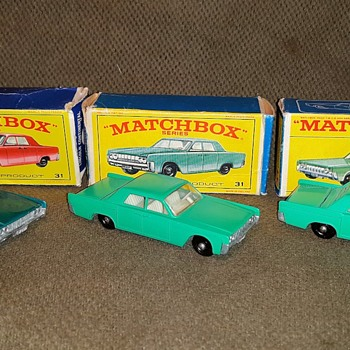 Lots of Linked In Lincolns Matchbox Monday MB 31 Featuring the 1967 Version - Model Cars