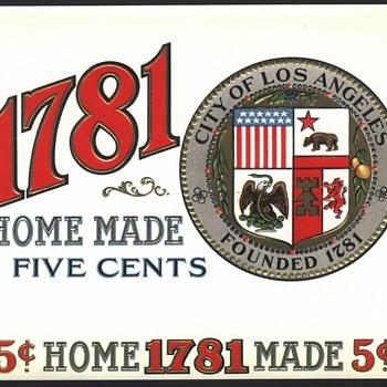 City Of Los Angeles Cigar Box Label