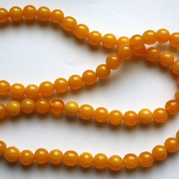 Interesting plastic beads - Costume Jewelry