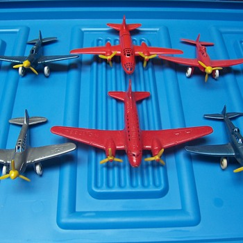 vintage 1950`s Thomas Toy airplanes - Toys