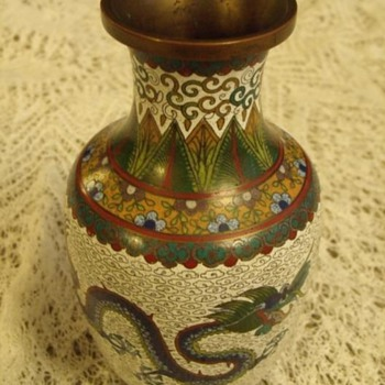 Chinese cloisonne vase? - Asian