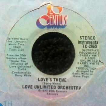 Barry White/Love Unlimited Orchestra 45 Record
