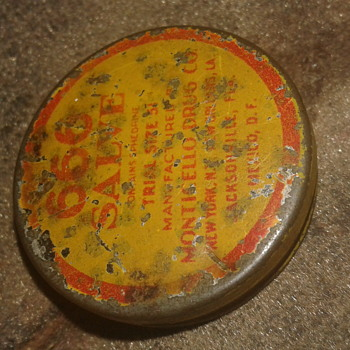 Circa 1920's 666 SALVE Tin Manufactured by Monticello Drug Co. - Advertising