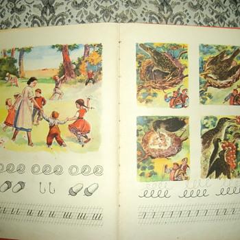 Old school book for children.