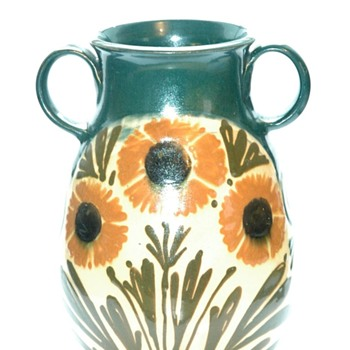 art nouveau vase with floral decoration  by LEON ELCHINGER - Art Nouveau