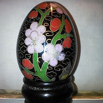 Chinese cloisonne eggs - Asian