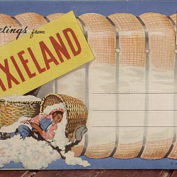 1940's Linen Postcard Booklet - Postcards