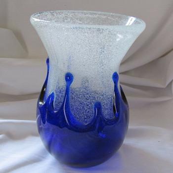 Pavel Jezek for Skrdlovice splash/drip vase #7606, 1976 - Art Glass