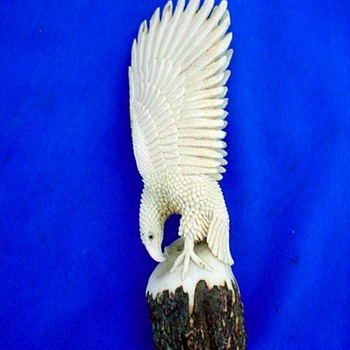 Miniature Hand Carved Eagle - Native American
