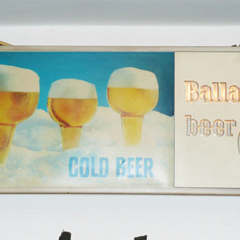 Ballantine Light Up Clock Sign 1960's - Breweriana