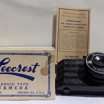 Circa 1940 Camera with Box and Manual - Cameras