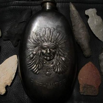 Indian Fire Water Flask - Silver