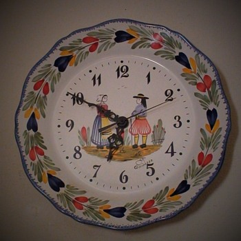 Quimper Plate Wall Clock - Clocks